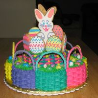 Easter Baskets Idea taken from Wilton yearbook, with my own embellishments. Basket handles are gumpaste.