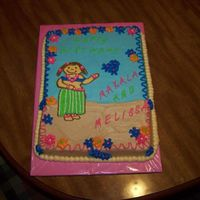 Hula Girl Birthday Cake A customer sent me a picture of a cake with this design. I am not an artist and I don't like drawing on a cake. I called to see if it...
