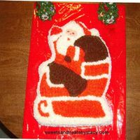 Santa Cake This cake I did last year for my husband to take to work for his Christmas party.