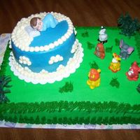Jungle Baby Shower Cake This cake was made for a customer that was going with a jungle theme in the baby's room.