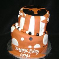 Texas Longhorn Topsy Turvy This cake was a total experiment! We had a friend who is a big Longhorns fan (boo!) and he had a birthday so I thought I would try some new...