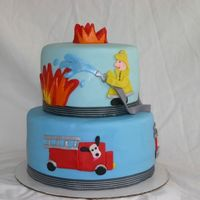 Copy Cat Fireman Cake Thanks for the wonderful inpiration for this cake from wonderful CCer's. Gingham ribbon around cake was used to match ribbon on the...