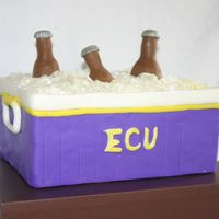 Tailgating Party bottles are made from gumpaste, hard rock candy crushed ice