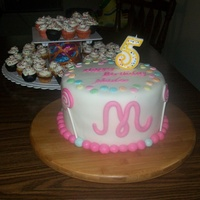 Lollipop Cake WASC cake and SMBC filling, MFF covered