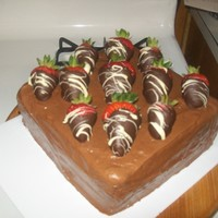 Chocolate! Chocolate WASC, chocolate fudge icing, and chocolate covered strawberries. YUM