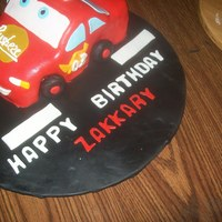 Lightening Mcqueen WASC cake all fondant