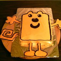 Wow Wow Wubbzy I made Wubbzy for my 2 daughters Cabbage patch dolls birthday party... Yeah a party for dolls...Yellow cake with buttercream frosting. The...