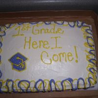 Kindergarten Graduation cake I did for a Kindergarten graduation, only the 2nd cake i have been paid for, not my best work but costumer loved so so that's all...