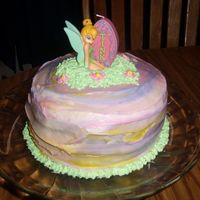Tink Cake I did for my sister n laws birthday, she just loovvvveess tink. I was really happy with it until I added the yellow. took some ideas...
