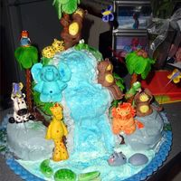 Jungle Cake I did for my brothers baby shower