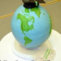 Earth Day This cake was made for an Earth Day and Graduation celebration.