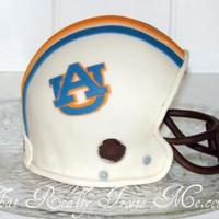 Auburn Football Helmet I made this cake to celebrate Auburn National Championship. My boys are big fans