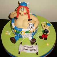 3D Asterix And Obelix Cake   Asterix and Ideafix are modelled.Obelix body is cake.