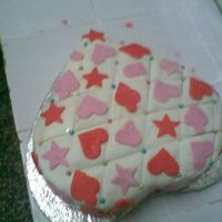 Val's Day Birthday Cake i made this for my sister's birthday on 14th feb