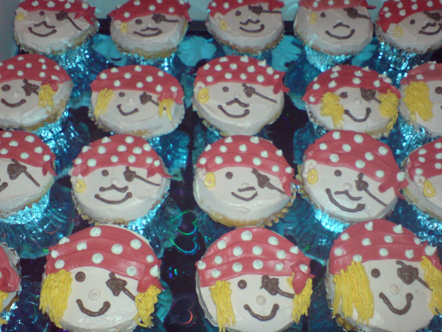 Pirate Cupcakes Inspired the stellar examples here on CC
