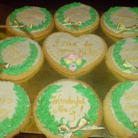 Olive Wreath Greek Themed Cookies NFSC with MMF and royal icing cookies made as rewards for my son's Year 6 class for staging a fantastic production based on Greek...
