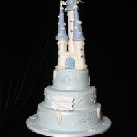 Winter Castle Cake This birthday girl wanted a winter themed cake, so I came up with a snowy castle cake for her. All decorations are made of fondant and were...