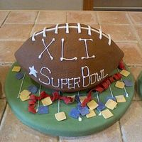 Football Cake This was a cake I made for super bowl last year.