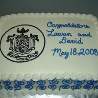 Case Western Reserve Nursing Program Graduation Yellow Butter Cake with Buttercream frosting