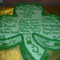 Shamrock  I used 4 twelve inch heart cakes. I torted them and added creamcheese and raspberry filling. Each cake is a different flavor. This was for...