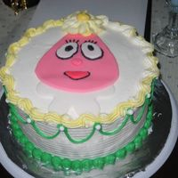 Img_1597.jpg My DD's 2nd birthday cake, Foofah from Yo Gabba Gabba. MMF accents on BC.
