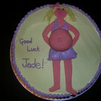 Buttercream With Fondant Figure Thanks to all the ccer's for the inspiration!