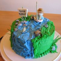 Fly Fishing Cake I made this cake for my dad's birthday last year. He loves fly fishing and I thought I would try to make my first figurine of a...