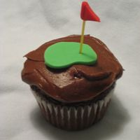 Golf Cupcake This is a chocolate cupcake with chocolate buttercream icing. I made these cupcakes to match a larger golf cake I did for a family friend....