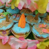 Hawaiian Cupcake Tower