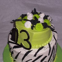 Green And Black Topsy Turvy This is my first attempt to a topsy turvy cake