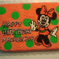 Minnie Mouse Birthday Just simple buttercream icing half sheet.