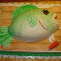 Fish Groom's Cake This was such a fun cake to make, and quite a challenge too. Since it was for the wedding reception, It was a challenge to make sure it was...