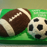 Football Soccer Birthday Cake I was so excited with this cake. My first successful project with grass! Most of the time, I could never get my icing the right consistency...