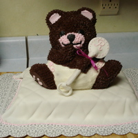 Baby Bear Shower Cake Very Cute baby bear cake. One of my first attempts with fondant. Not too shabby, but not that complicated either. The mom-to-be loved it so...