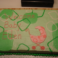 Welcome Baby Shower Cake Okay, this is my first nominee for cakewrecs.com. I learned a lot on this one and thank goodness it was for family because I don't...