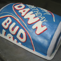 "Bud Light Fondant covered. wish I could have had the ""inspiration"" at work while I was doing the cake!"