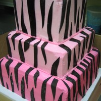 Sweet 16 Zebra Print BC with fondant zebra stripes