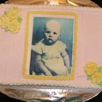 1/4 Sheet Cake 9x13 chocolate cake with vanilla bc and edible image