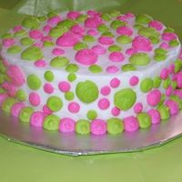 First B-Day Smash Cake Neon Green, Neon Pink and white bc.