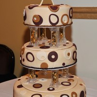 "Round With Circles All is fondant, 16"", 12"" and 10"" A cake I did for a girl's Sweet 16. Looks more like a wedding cake but this is the..."