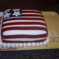 4Th Of July Just a simple cake a made for the 4th of July holiday. Cake made of fondant with fondantaccents.