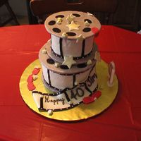 "Movie Reel Birthday Cake Thanks to CakesbyLJ for the initial inspiration and to Susan Carberry for such fabulous directions for her ""Night at the Oscars""..."