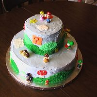Super Mario Birthday Cake This is a cake I made for my son's 12th birthday - I found this cake online and wrote the lady asking if she minded my making a...