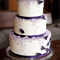 Butterfly And Blossom Wedding Cake