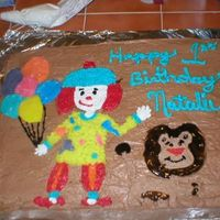 Jojo's Circus 1St Birthday Cake This was my daughters 1st birthday cake, and the first decorated cake I ever made. I could not find JoJo's Circus anywhere. I actually...