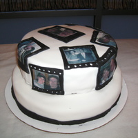 Film Strip Photo Cake   Rolled fondant and edible picture paper