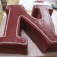 Nebraska N Grooms Cake This was a chocolate and chocolate raspberry grooms cake with ganache filling and white chocolate buttercream carved to the Nebraska...