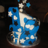 18Th Bday Topsy Turvy done in fondant---