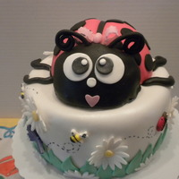 Ladybug Birthday Cake This was a special request from a good friend of mine for a cake with ladybugs. She loved it! Since she is an adult I thought this was fun...