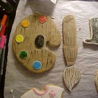 The Artist This is just a practice cookie. When school starts back, I will be making this cookie as a thank you to the Art Teacher. NFSC, fondant, and...